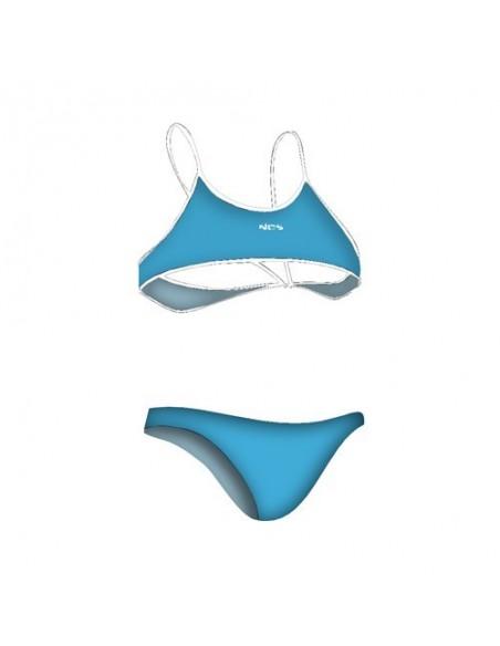 NCS Bikini TURQUESA LISO Mujer