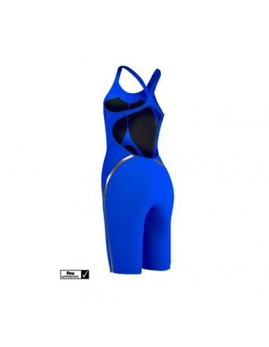 5904e2e784e5 Speedo Bañador Competición Fastskin LZR Racer X Openback Kneeskin Mujer  Azul Eléctrico