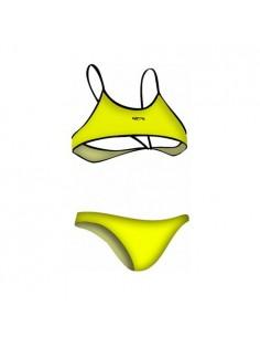 NCS Bikini AMARILLO FLÚOR LISO Mujer