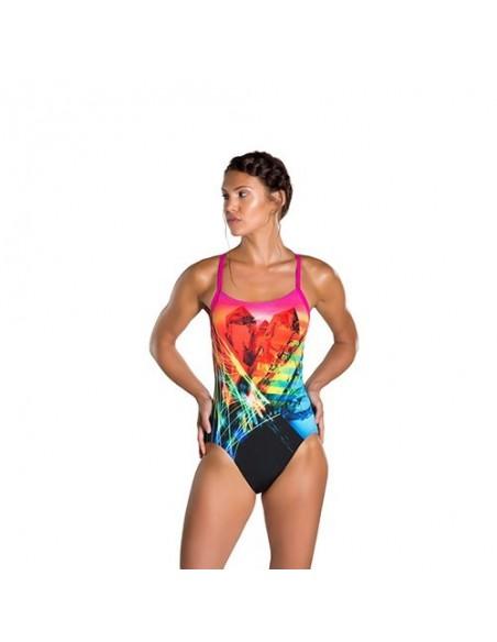 Speedo Entrenamiento Digital Bañador Prismstorm Rippleback Mujer Placement cjqS4R35AL
