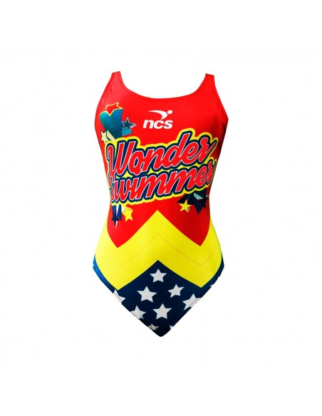 NCS Bañador Entrenamiento Wonder Woman Mujer Tirante Ancho