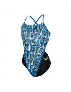 Michael Phelps Bañador Entrenamiento Racing Back Mujer City