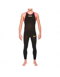 Arena Bañador Competición Aguas Abiertas Powerskin R-Evo+ Open Water Full Body Long Leg Closed Hombre - Negro / Rojo