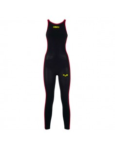 Arena Bañador Competición Aguas Abiertas Powerskin R-EVO+ Open Water Full Body Long Leg Closed Mujer Negro