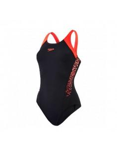 Speedo Bañador Entrenamiento Boom Splice Muscleback - Negro / Rojo
