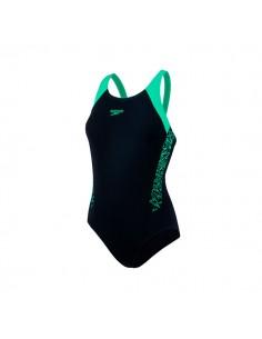 Speedo Bañador Entrenamiento Boom Splice Muscleback - Negro / Verde
