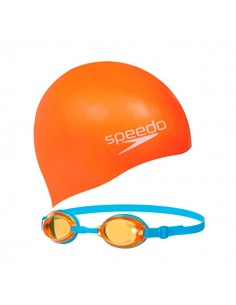Speedo Gafas Jet Junior Swim Set - Azul / Naranja