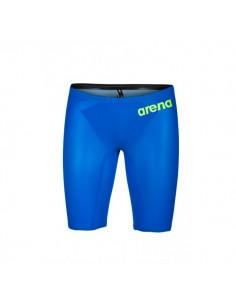 Arena Bañador Competición Powerskin Carbon Air 2 Jammer Hombre - Azul eléctrico / Amarillo
