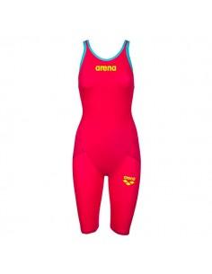 Arena Bañador Competición Powerskin Carbon Flex VX Mujer Rojo/ Turquesa